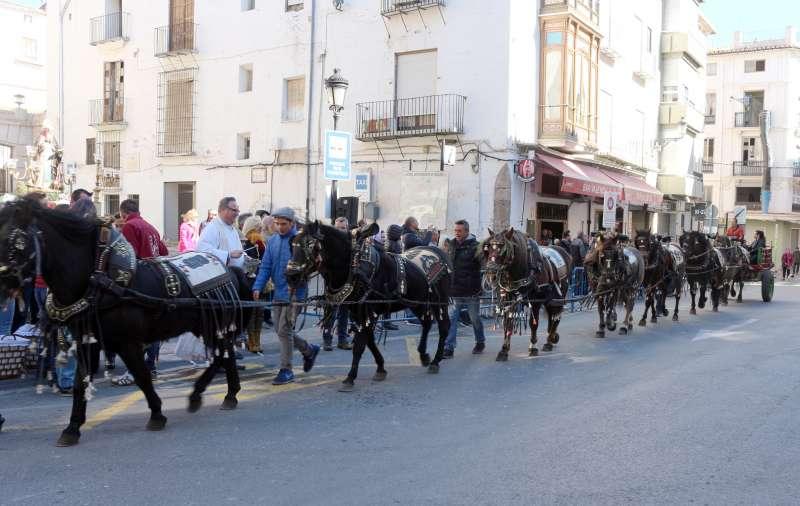 Reata de siete caballos en la bendición