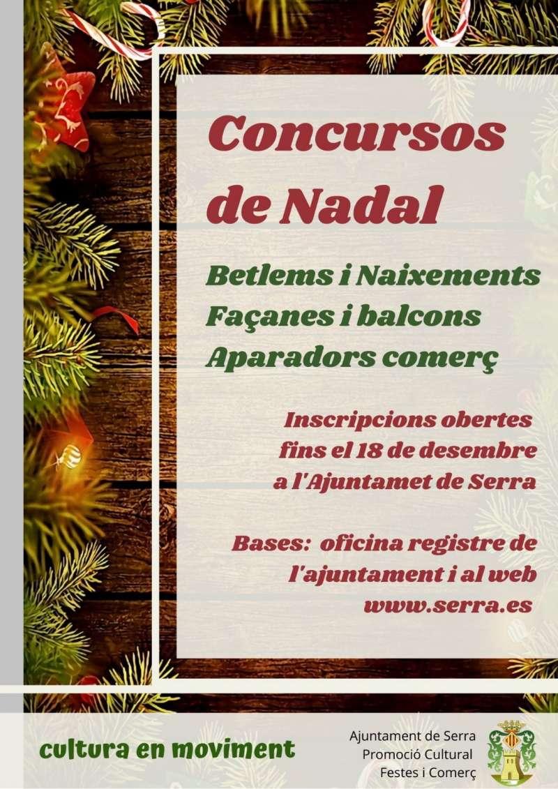 Cartell dels concursos de Nadal de Serra. / EPDA