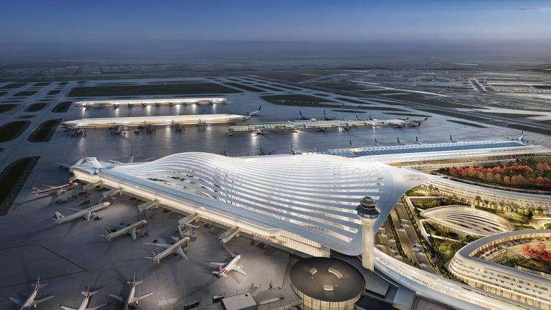 Fotografía divulgada este jueves por la Alcaldía de Chicago donde se aprecia la propuesta del arquitecto español Santiago Calatrava para la renovación del aeropuerto internacional O