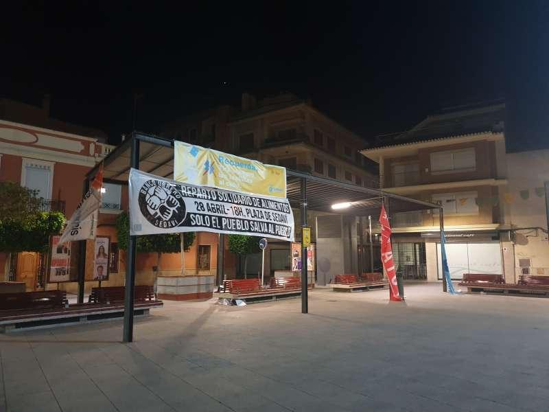 Pancarta de la plaza de Sedaví