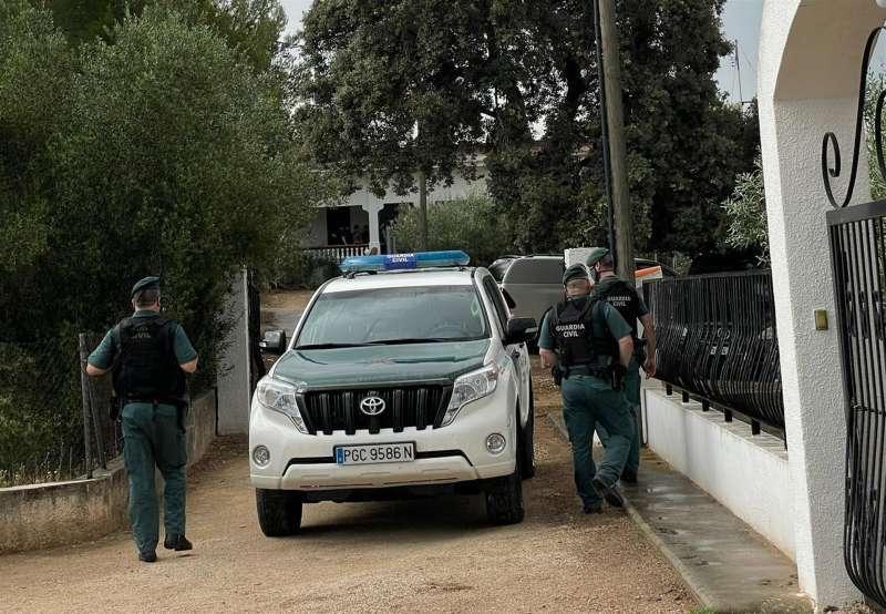 La Guardia Civil, en el lugar donde se encontró a Wafaa
