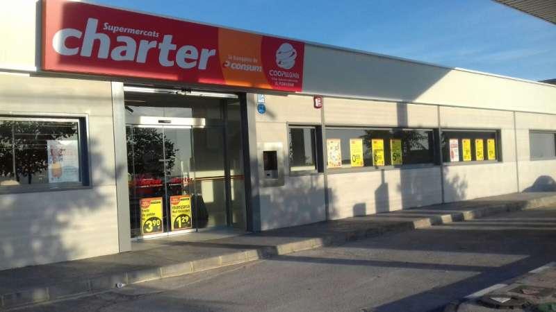 Supermercado de Algímia donde robaron el sábado por la noche. EPDA
