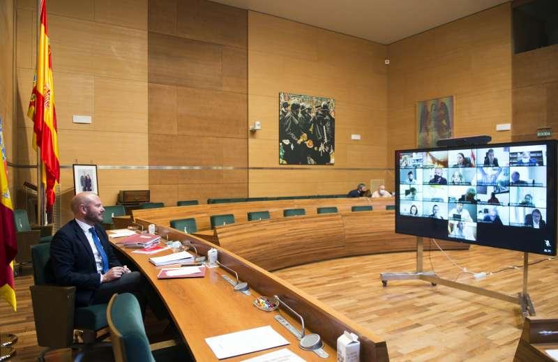 Imagen del Pleno de la Diputación.