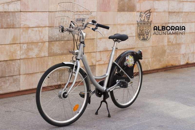 Una de las bicicletas de Xufabike en Alboraya. EPDA