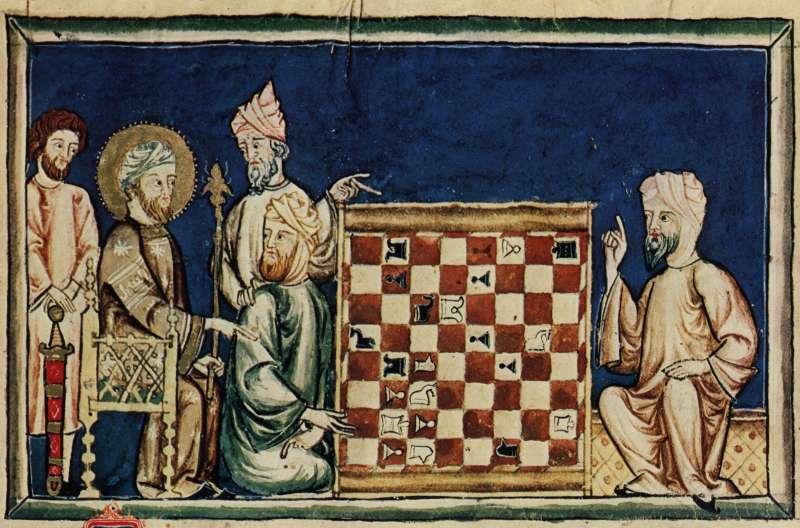 Ilustración del LIbro de los juegos de Alfonso X el Sabio