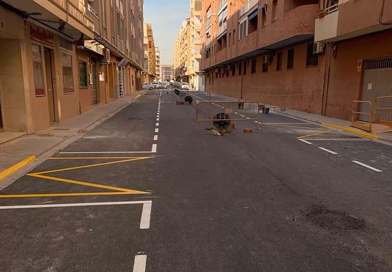 Obras en la Calle Cataluña.