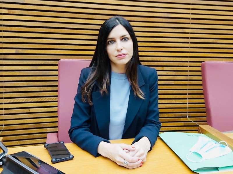 La diputada del Grupo Parlamentario VOX Comunidad Valenciana, Miriam Turiel. EPDA