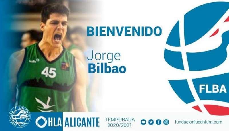 Bienvenida en redes sociales del Lucentum a Jorge Bilbao. EFE