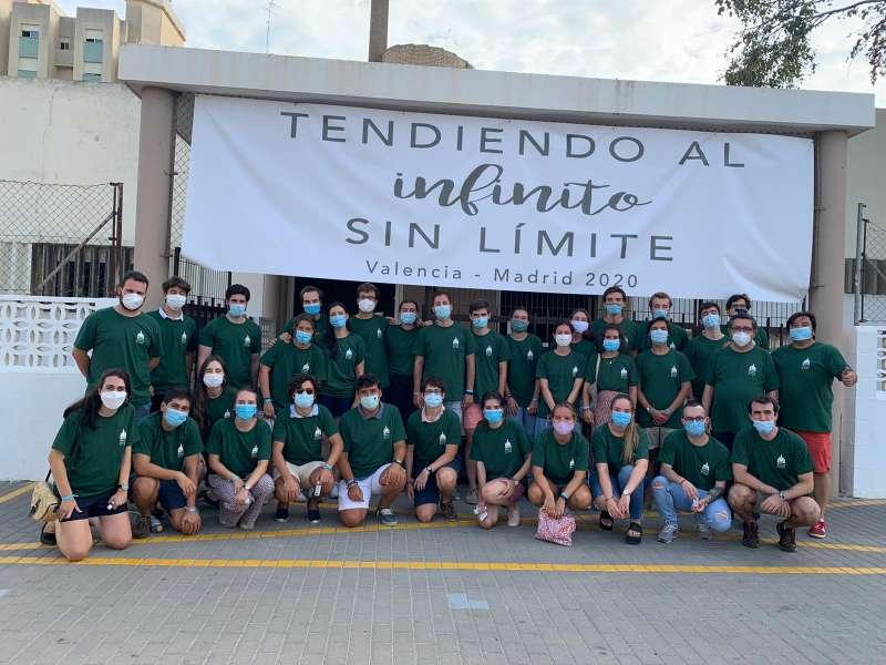 Foto llegada de los alumnos de Madrid./EPDA