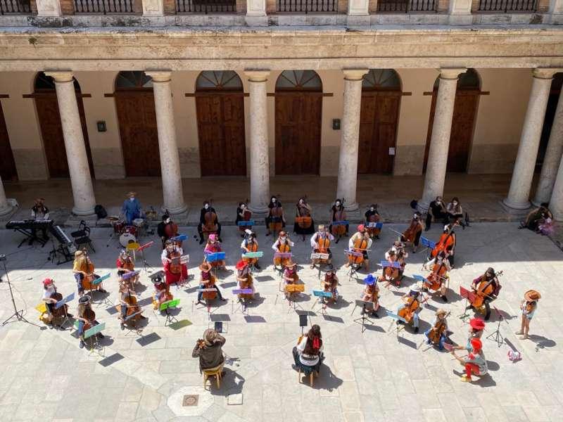 Escuela de música Voluta Pantalla Alborache