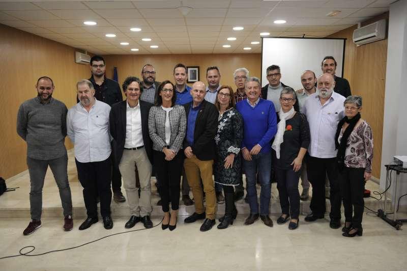 Amigó amb alcaldes i regidors de la comarca en Foios. EPDA