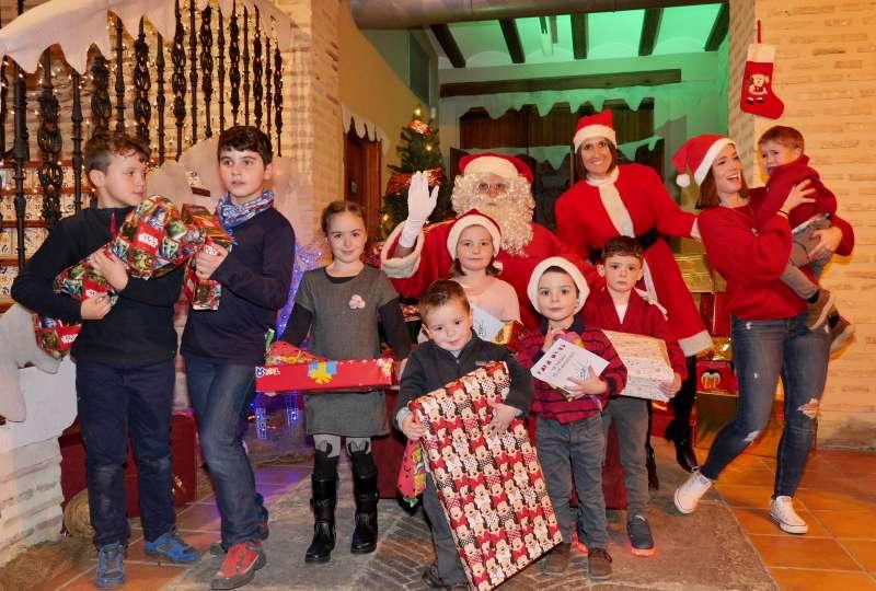 Visita Papá Noel a Alboraya.