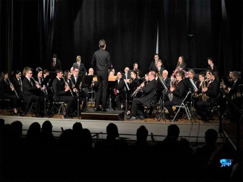 La UMP, en uno de sus últimos conciertos