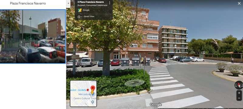 Una imagen de maps de Plaza Francisca Navarro en Burjassot. EPDA