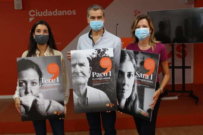 Rueda de prensa en la que Ciudadanos ha presentado una campaña de homenaje a la sociedad valenciana por resistir a la crisis sanitaria. EFE
