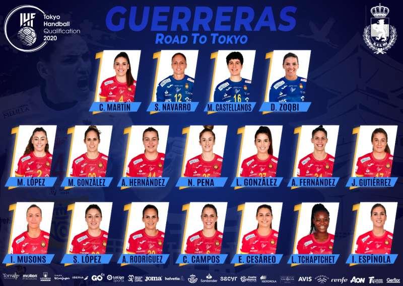 Las 18 Guerreras elegidas para el Preolímpico de Llíria. / EPDA