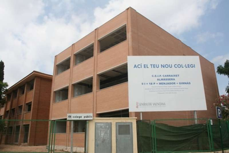 Obras del nuevo colegio de Almàssera. EPDA