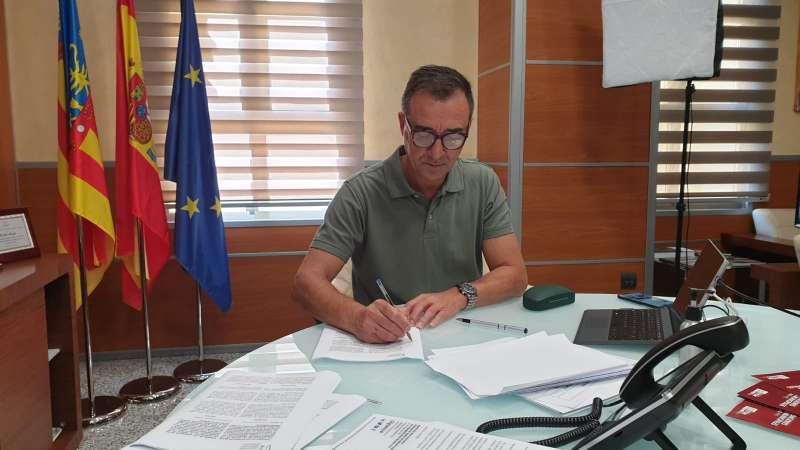 Robert Raga en reunión telemática. / EPDA