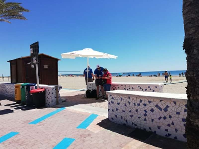 Accés a la platja de La Pobla de Farnals. EPDA