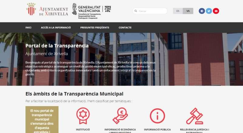 Portal de Transparencia de Xirivella. EPDA
