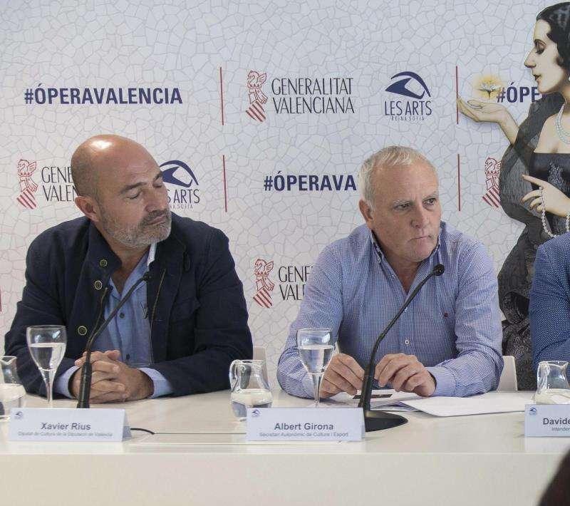 El diputado de Cultura de la Diputación de Valencia, Xavier Rius (i), en una imagen de archivo junto al secretario autonómico de Cultura, Albert Girona. EFE