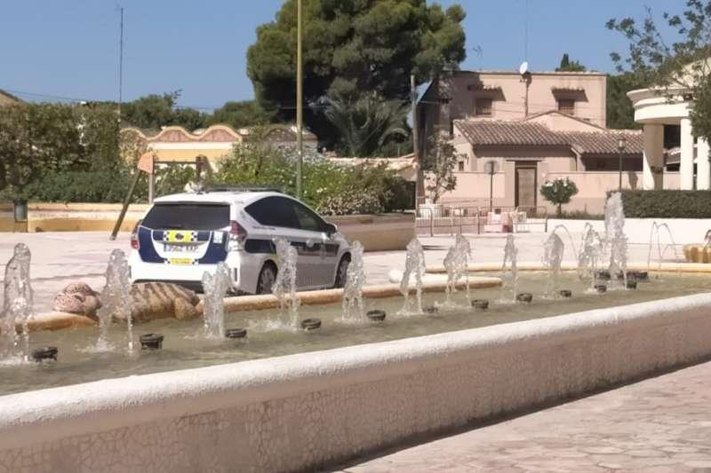 Policía Local en el Parque de La Pinada. / EPDA