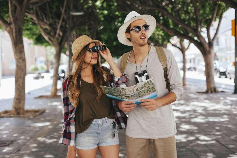 Una pareja de turismo