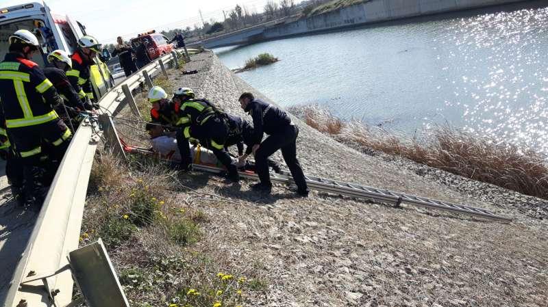 La Policía Local de Alboraya rescata a un hombre en el barranco del Carraixet