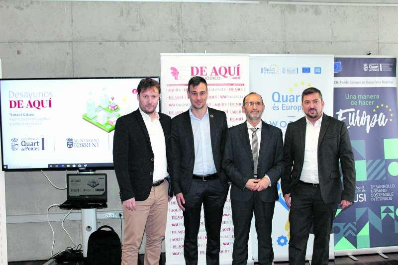 Andrés Campos, Jordi Azorín, Bartolomé Nofuentes y Pere Valenciano.