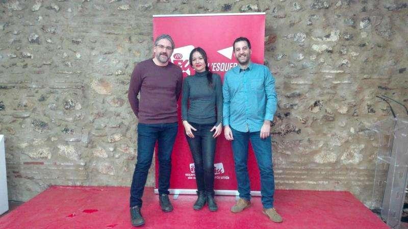 Rosa Albert (en el centro), Tito Alapont (derecha) y José Soler (izquierda), en una imagen de EU.