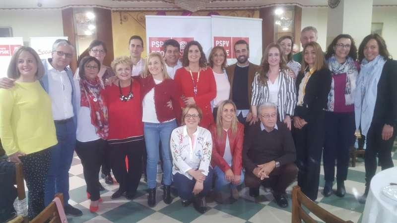 Candidatas y candidatos del PSPV del Camp de Túria. EPDA
