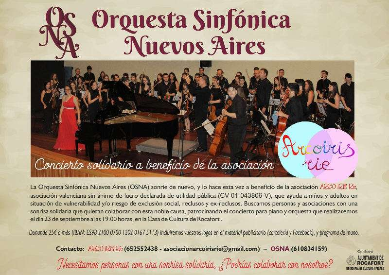 Cartel informativo del concierto en Rocafort. EPDA