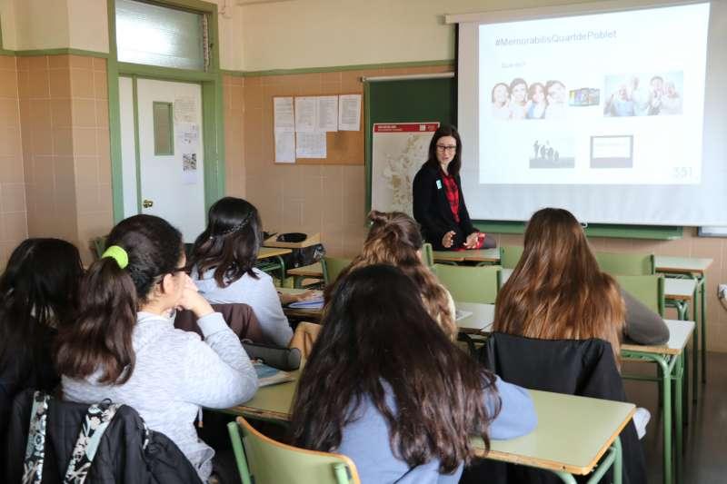 Presentación de Memorabilis al alumnado de Quart de Poblet que participa en el proyecto. EPDA