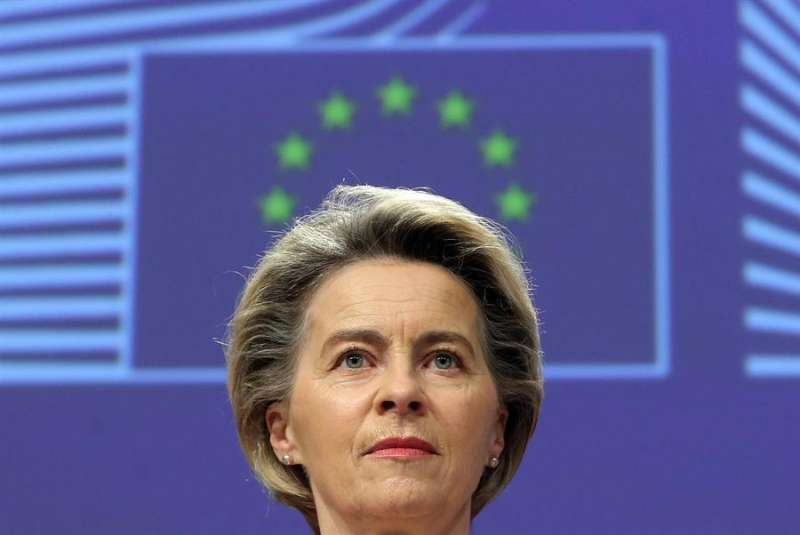 La presidenta de la CE, Ursula Von der Leyen. EFE/EPA/FRANCOIS WALSCHAERTS