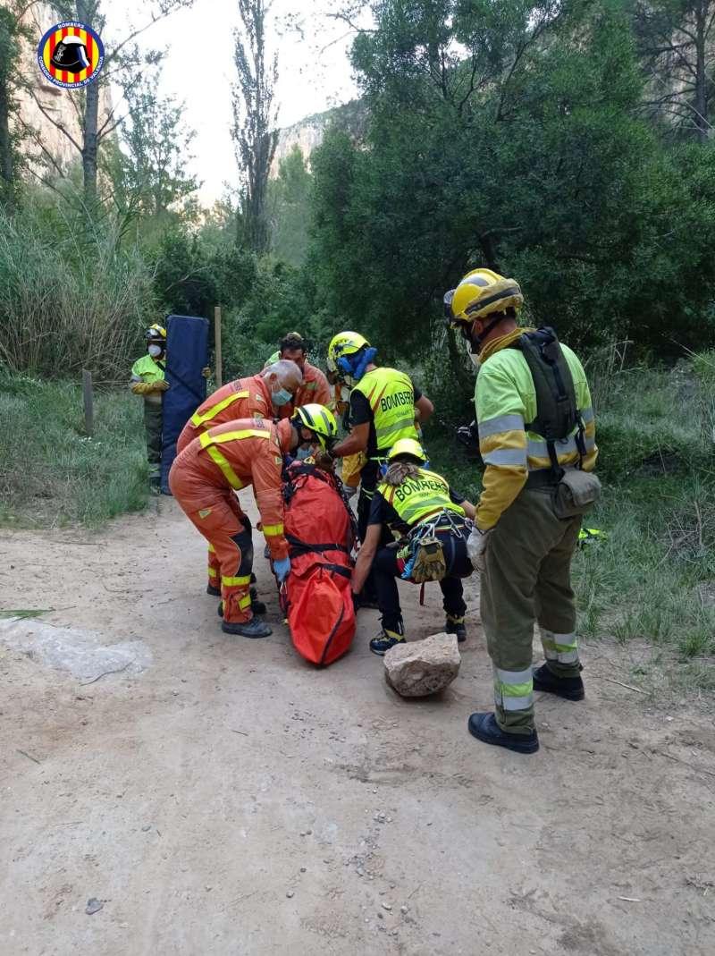Rescate del domingo por los bomberos. EPDA.
