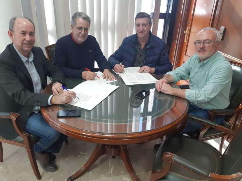 Alcaldes de Massanassa, Albal y Beniparrell. EPDA