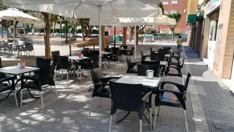 Imagen de archivo de una terraza de un restaurante