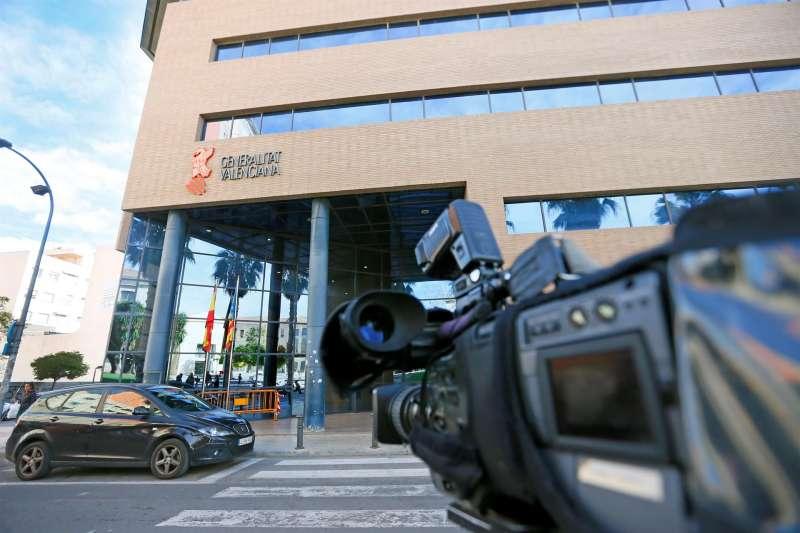 Imagen de la entrada de los juzgados de Alicante.