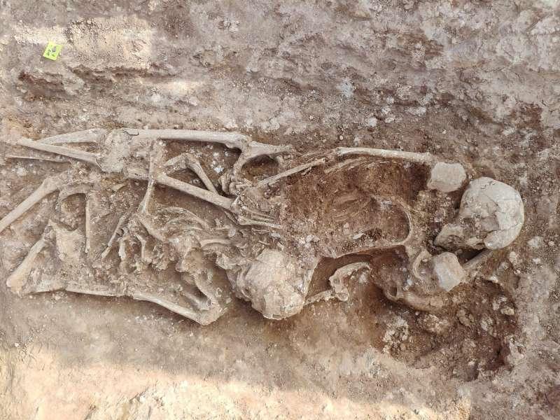 Los restos visigodos hallados, en una imagen difundida por el Ayuntamiento.