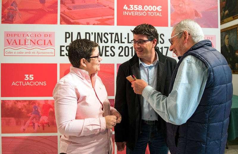 Jorge Rodríguez e Isabel García i Josep Almenar en la presentación del Pla d