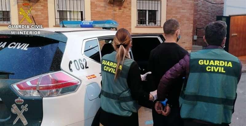 El detenido, en una imagen de la Guardia Civil.