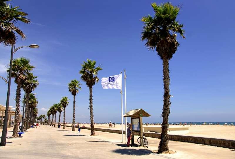Imagen de la playa de Alboraia.