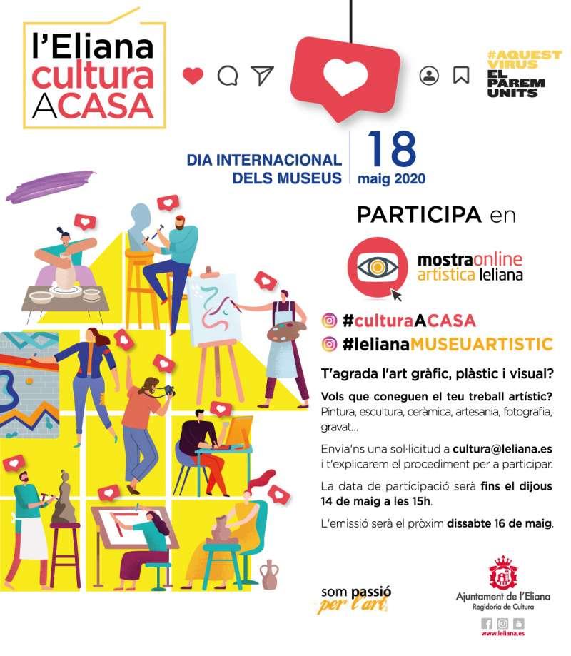 Cartel informativo de #culturaacasa. / EPDA
