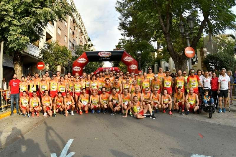 Participantes en la prueba deportiva. EPDA