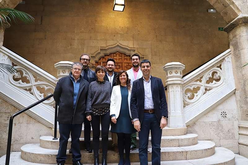 Visita del Fons Valencià per la Solidaritat a la Diputació de València. EPDA