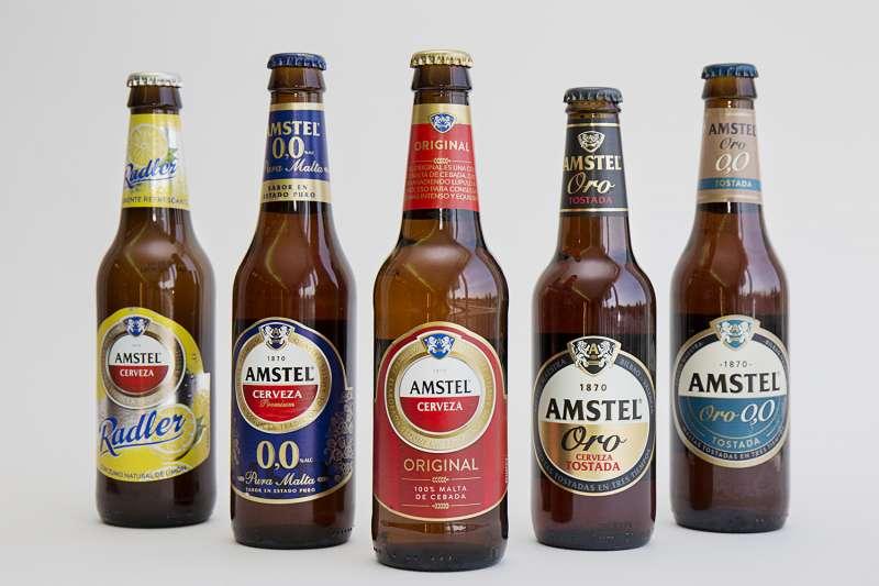 Gama de productos de Amstel.