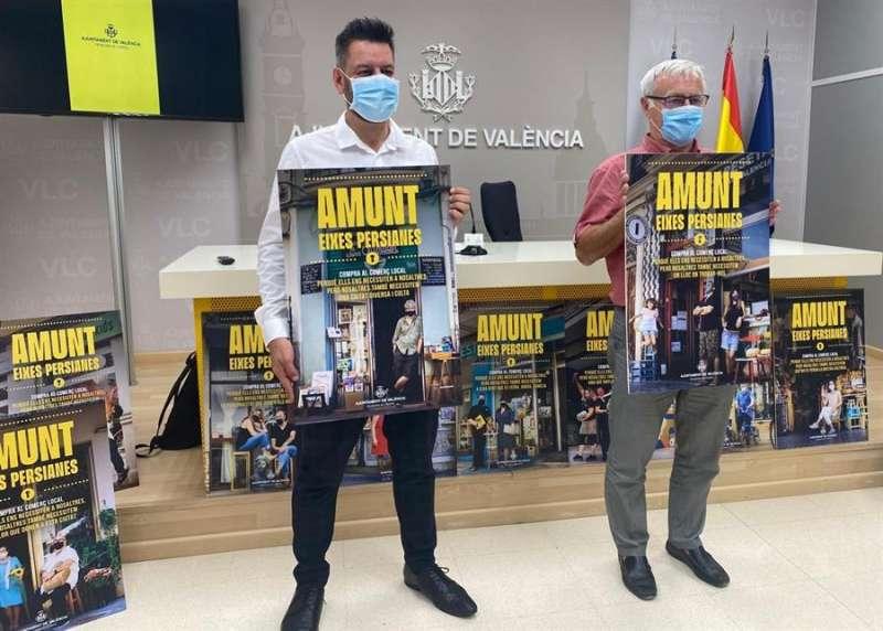 Presentación de la campaña de apoyo al comercio de València. EFE