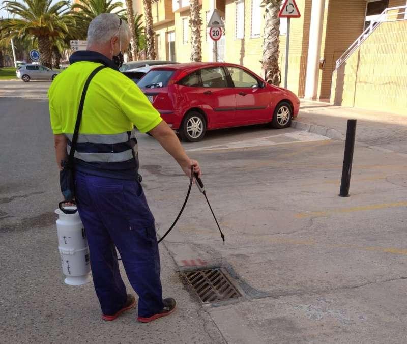Tratamientos contra los mosquitos en Catarroja. EPDA