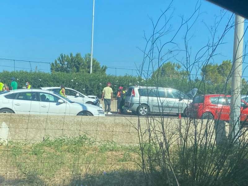 Imagen tomada tras el accidente