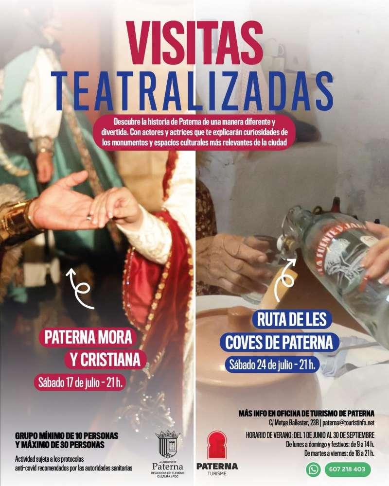 Cartel de las rutas teatralizadas de Paterna.